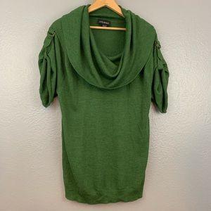 Lane Bryant Cowl Neck Wool Short Sleeve Sweater